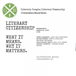 NEW TIME Literary Jungle, Literary Community: Literary Citizenship @ Scuppernong Books | Greensboro | North Carolina | United States